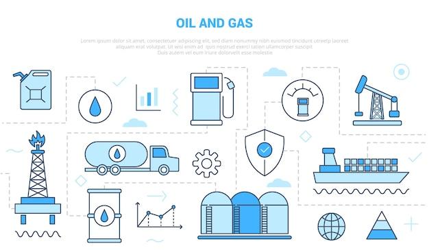 Campanha do conceito da indústria de petróleo e gás