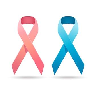 Campanha realista de câncer de mama em fita