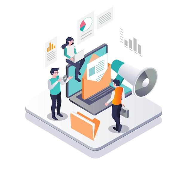 Campanhas de e-mail com mídias sociais e marketing digital