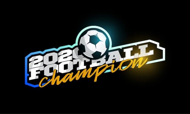 Campeão 2020 logotipo de futebol.