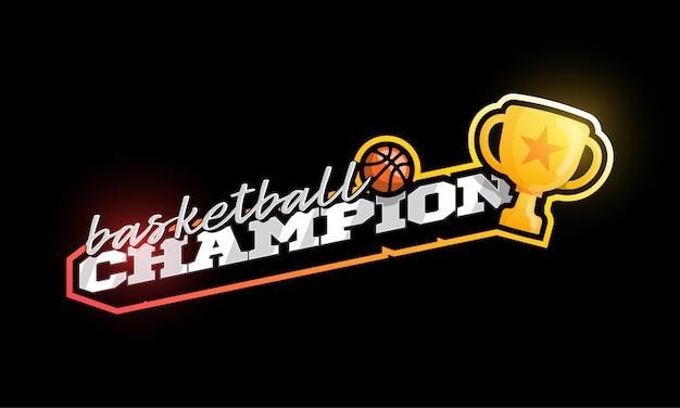 Campeão de basquete logo.
