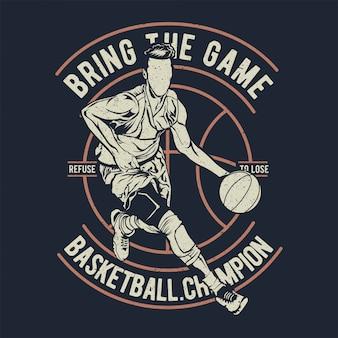 Campeão de basquete traz o jogo