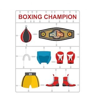 Campeão de boxe kits de modelo de plástico.