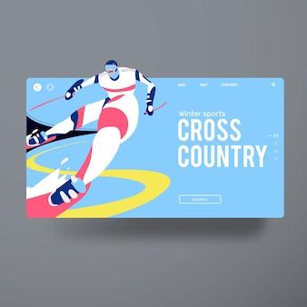 Campeão de jogador de cross country man