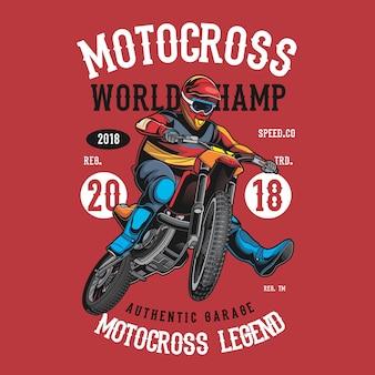 Campeão do mundo do motocross