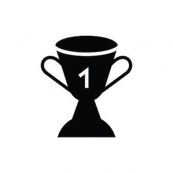 Campeão vencedor throphy ícone ilustração vetorial design