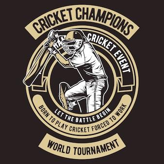 Campeões de críquete