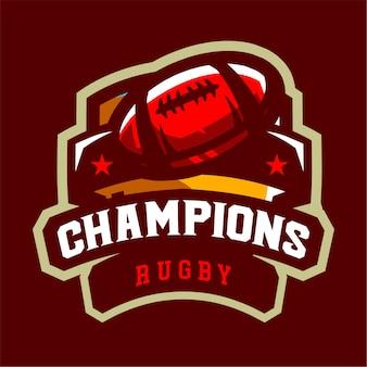 Campeões do logotipo dos esportes do rugby