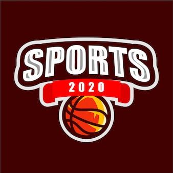 Campeonato de basquete de logotipo de esporte