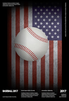 Campeonato de beisebol esporte poster design vector illustration