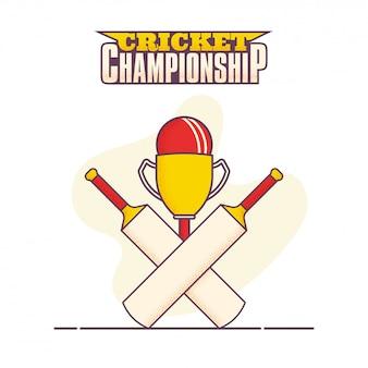 Campeonato de cricket de estilo simples