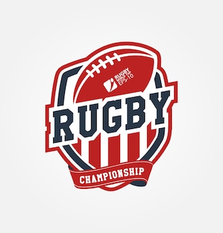 Campeonato de rugby logo sport design