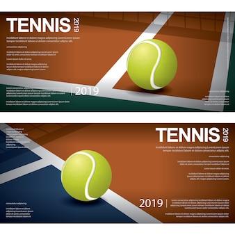Campeonato de ténis de banner