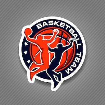 Campeonato de torneio de logotipo de time de basquete
