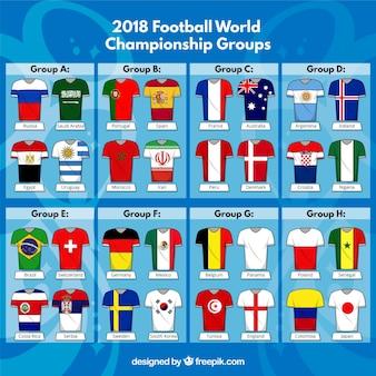 Campeonato do mundo de futebol com equipamentos diferentes