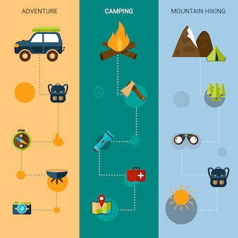 Camping banners verticais