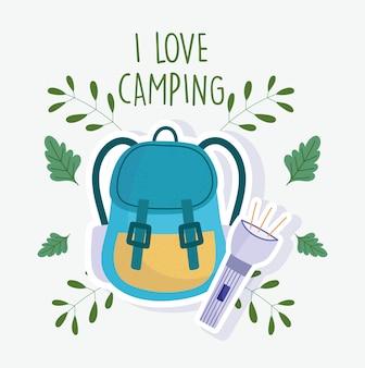Camping lanterna mochila férias atividade aventura design
