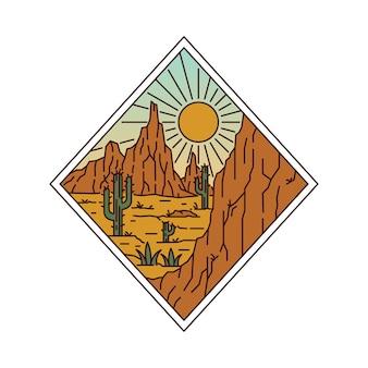 Camping natureza aventura linha selvagem distintivo patch pin ilustração gráfica