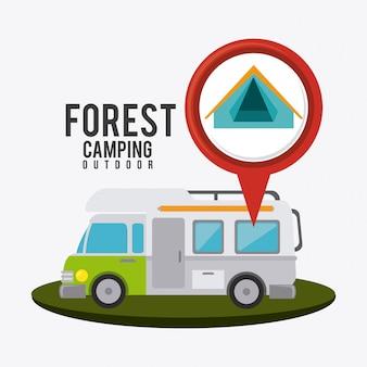 Camping, viagens e férias