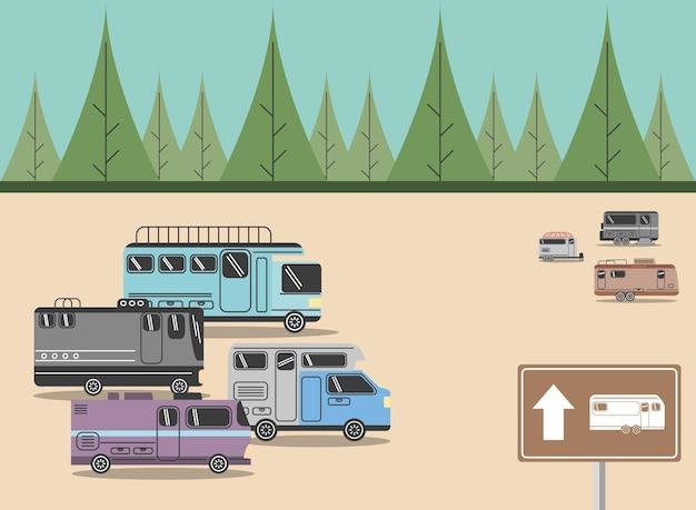 Campistas de estacionamento