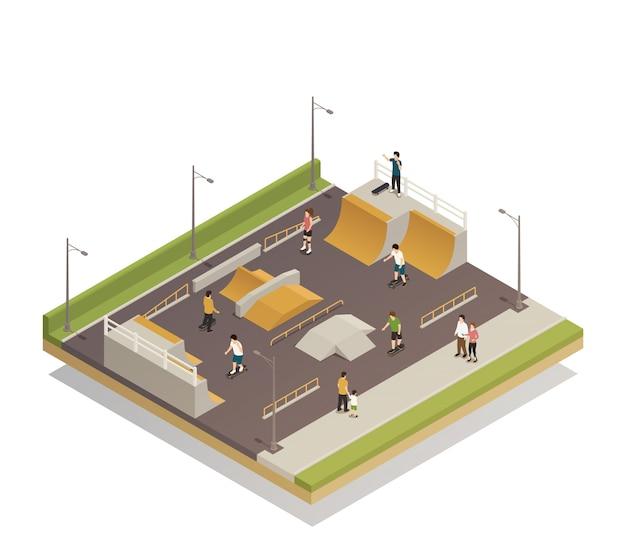 Campo de esportes para passeios ecológicos