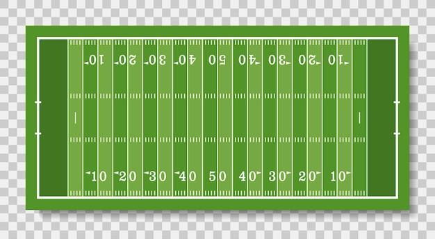 Campo de futebol americano com linha