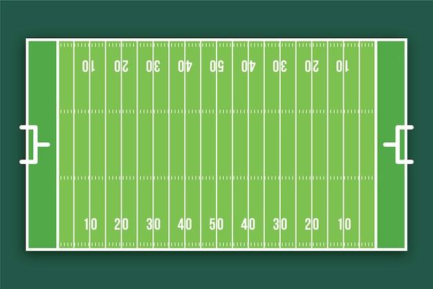 Campo de futebol americano de design plano