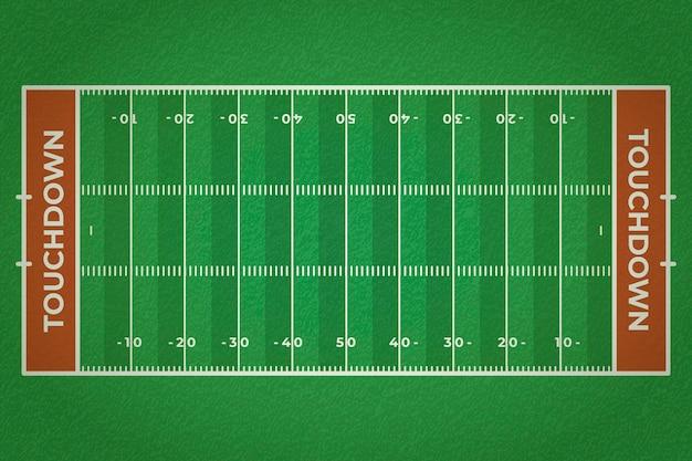 Campo de futebol americano realista
