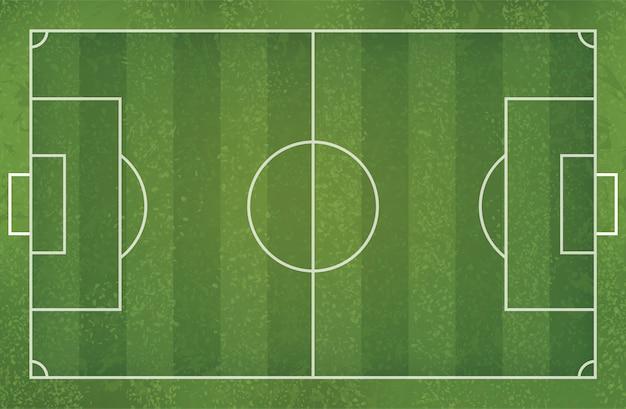 Campo de futebol de futebol para o fundo.