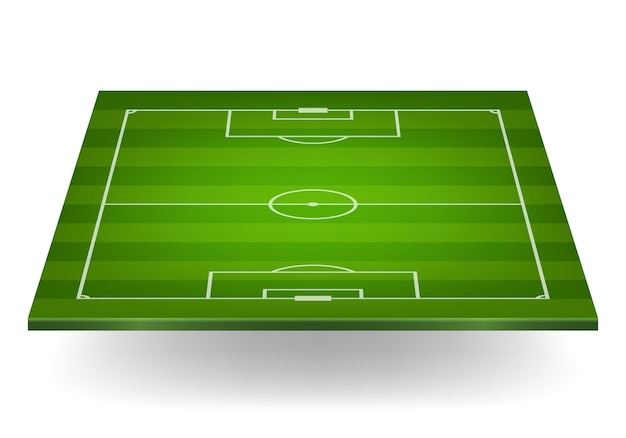 Campo de futebol listrado