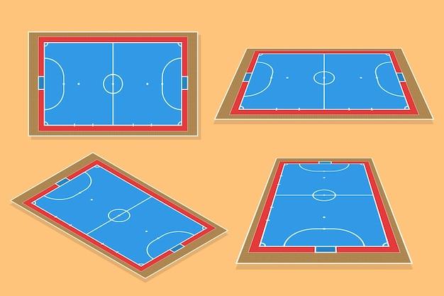 Campo de futsal isométrico
