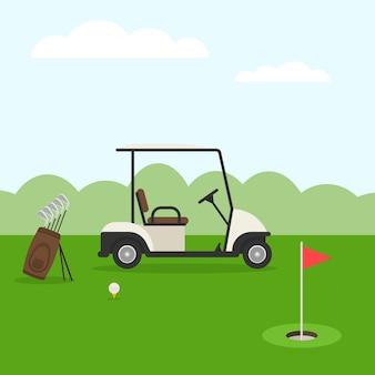 Campo de golfe. paisagem de golfe