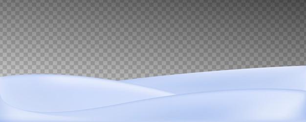 Campo de neve realista de vetor isolado em fundo transparente.