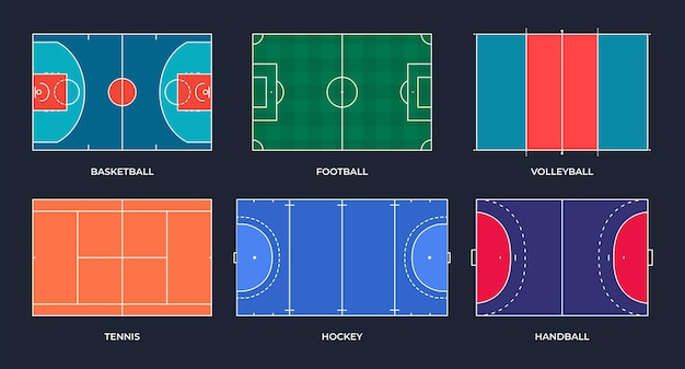 Campos desportivos futebol basquetebol ténis voleibol andebol hóquei