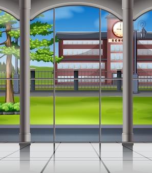 Campus da escola da janela