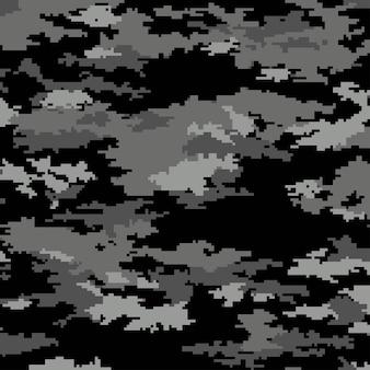 Camuflagem de pixel digital. fundo transparente. vetor eps 10.