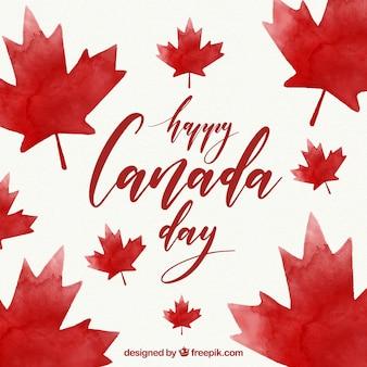 Canadá, dia, fundo, aguarela, estilo