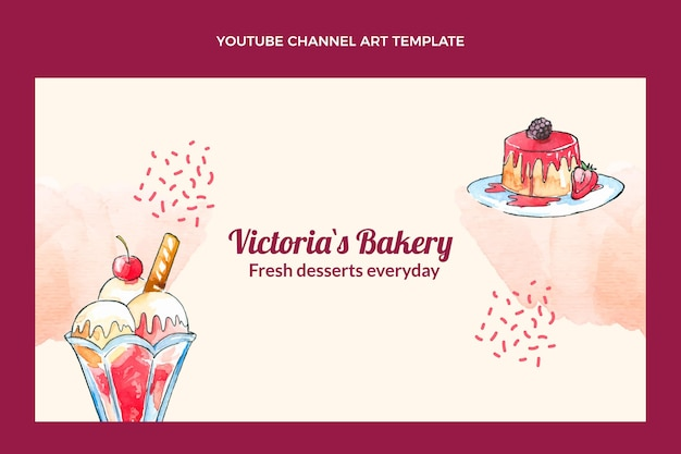 Canal de sobremesas aquarela no youtube