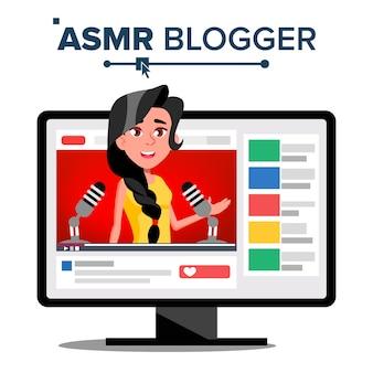 Canal do blogger do asmr