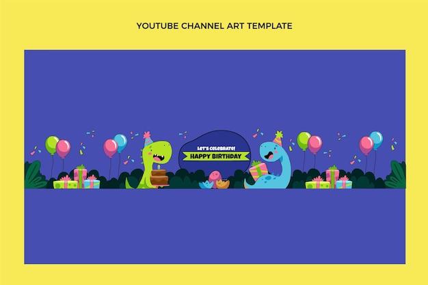 Canal do youtube de aniversário infantil desenhado à mão