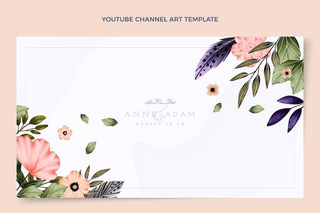 Canal do youtube de casamento boho aquarela