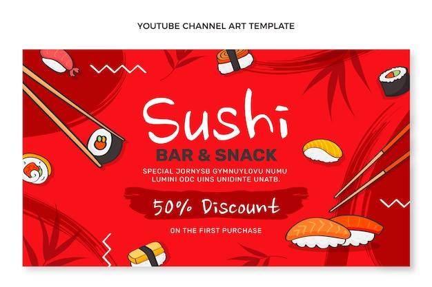 Canal do youtube de comida desenhada à mão