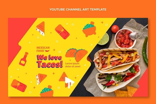 Canal do youtube de comida mexicana estilo simples