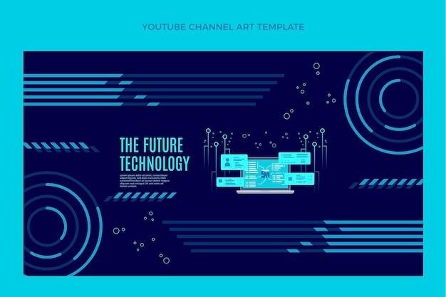 Canal do youtube de tecnologia plana mínima