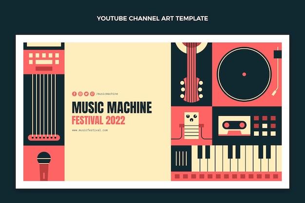 Canal do youtube do festival de música flat mosaico