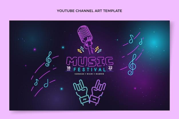 Canal do youtube do festival de música gradiente colorido