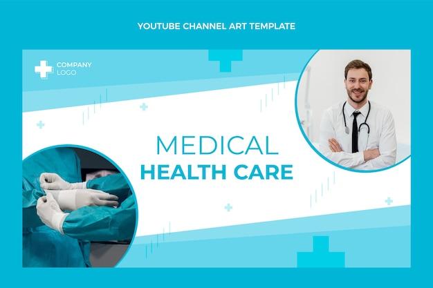 Canal do youtube médico de design plano