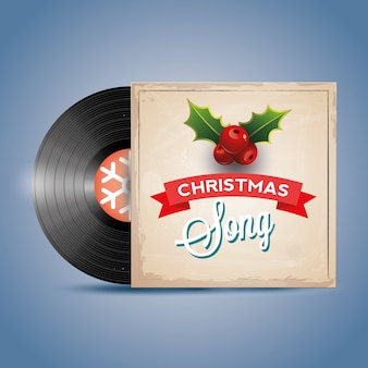 Canção de natal. disco de vinil