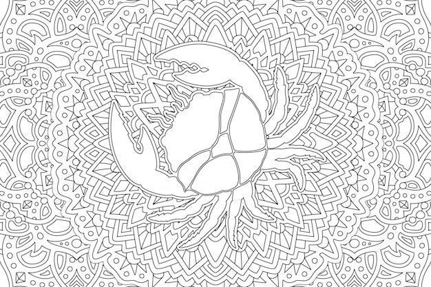 Câncer de símbolo do zodíaco no belo estilo linear