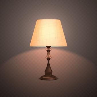 Candeeiro luminoso decorativo realista